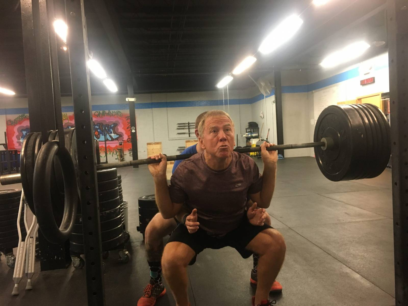 Mike Monaghan Squatting Strong CrossFit Adoration Bethlehem Member of the Month February 2017